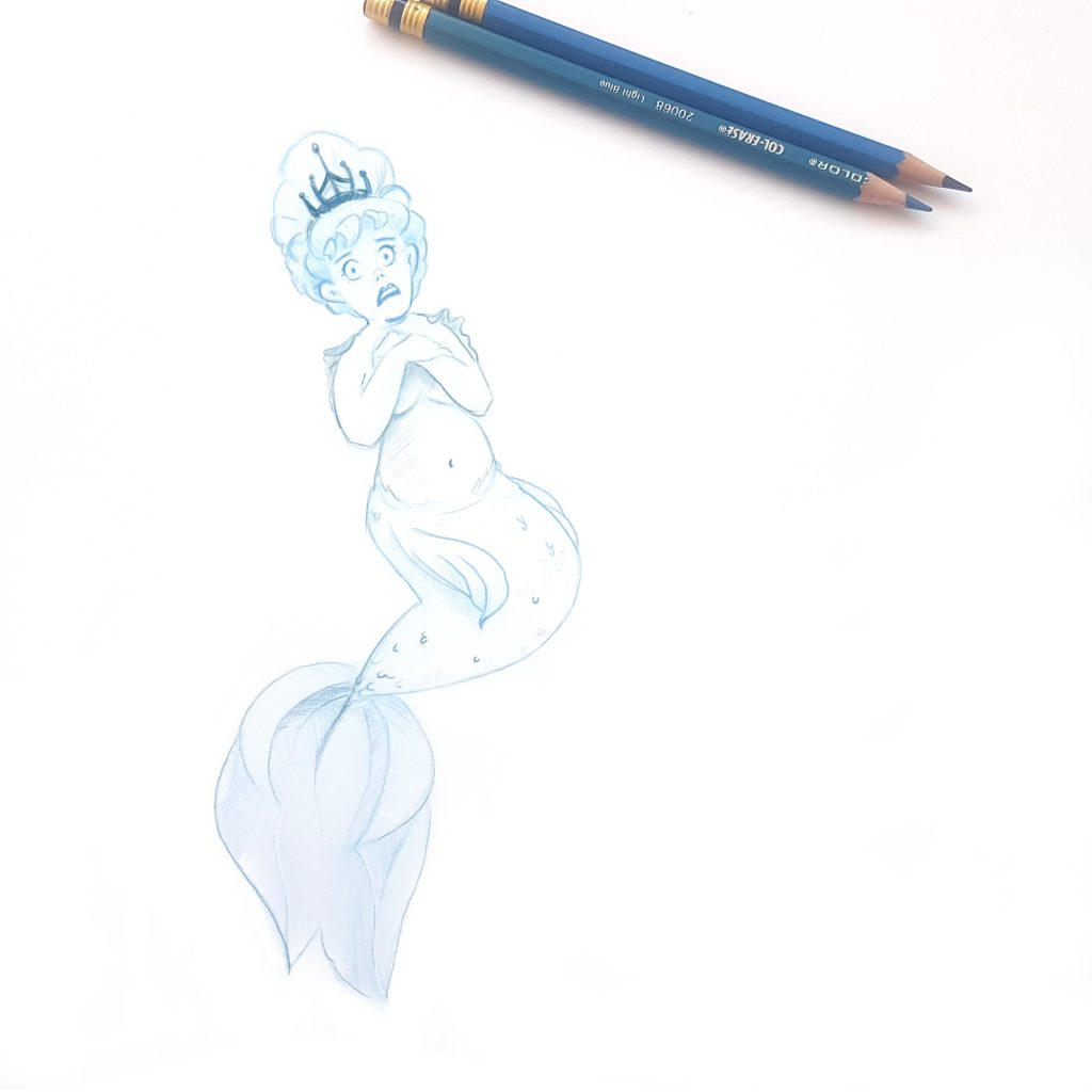 Bashful Mermaid