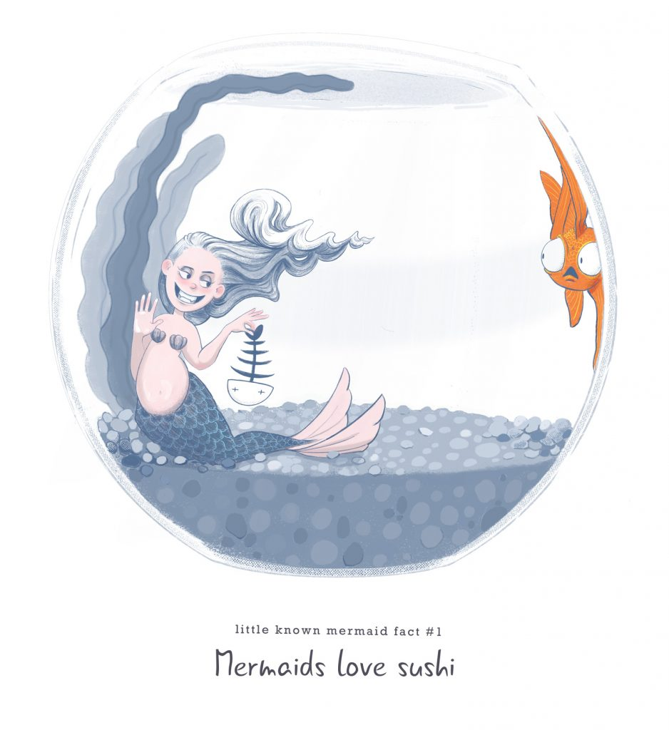 Little know mermaid fact #1 Mermaids love sushi