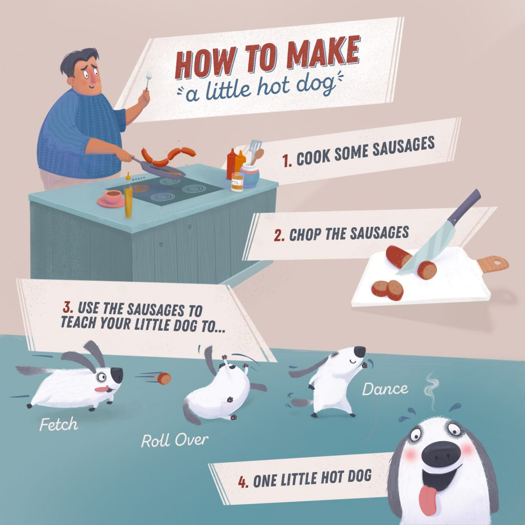 How to make a little hot dog