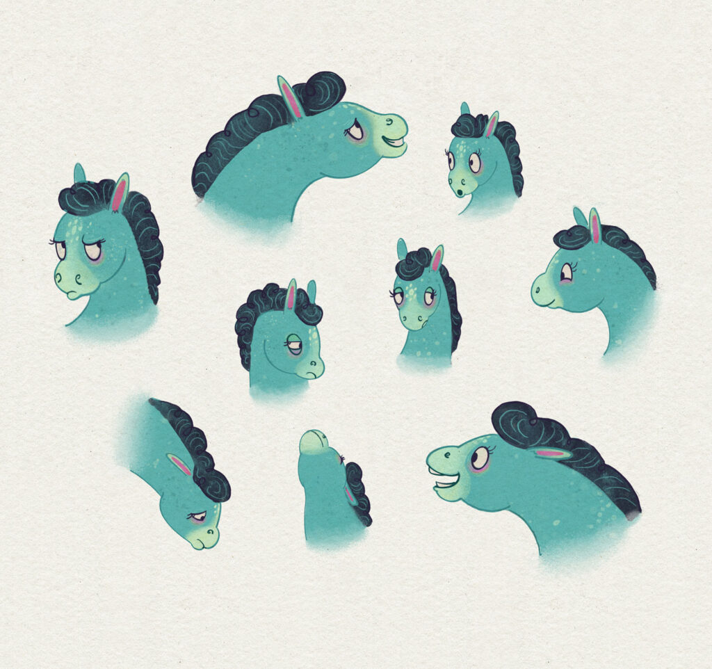 Character design - horse expression