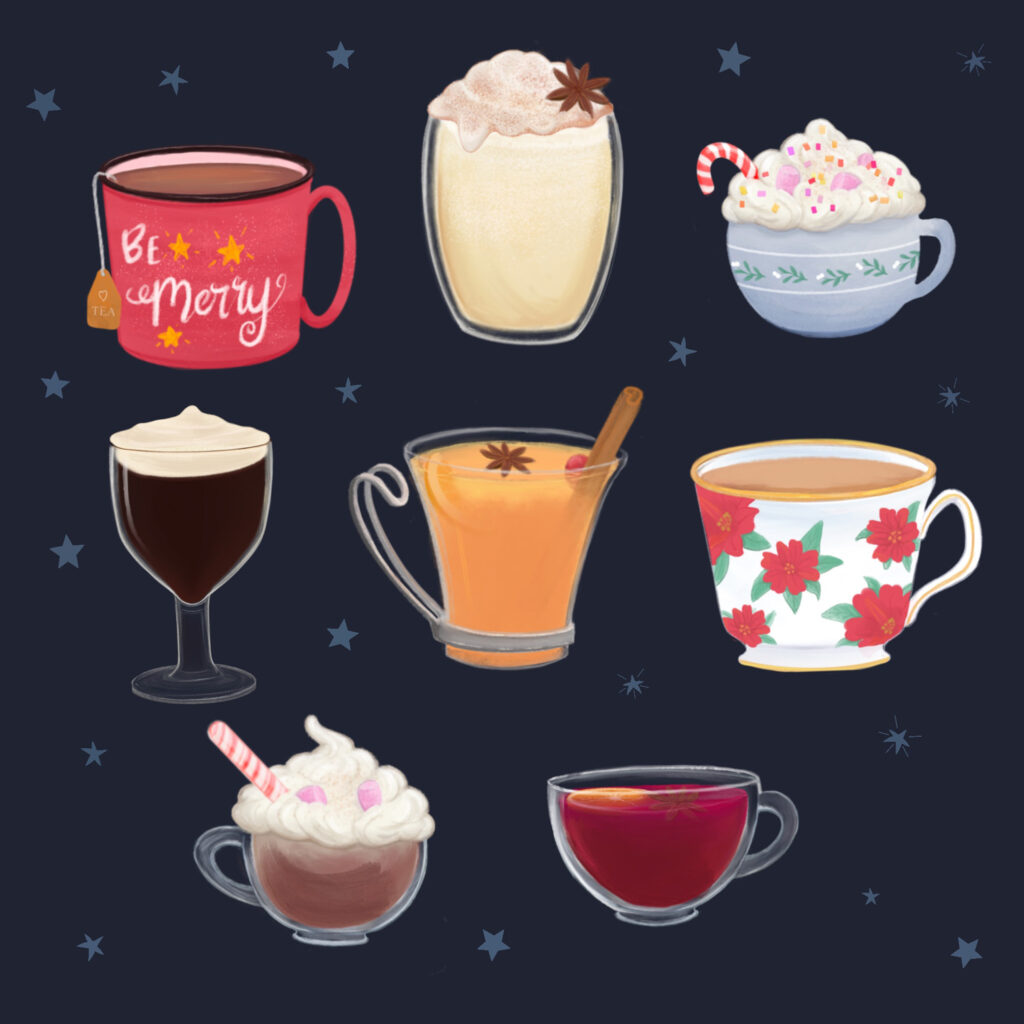 Festive Drinks Illustration