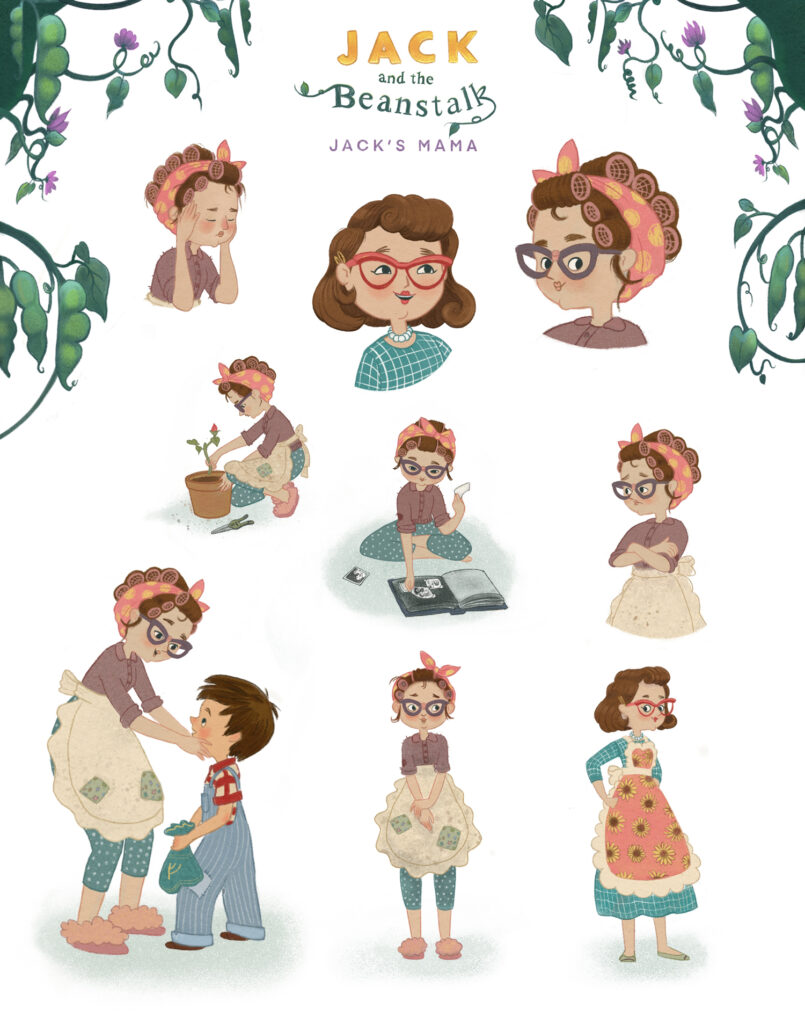 Jack and the beanstalk character design - Jack's Mother