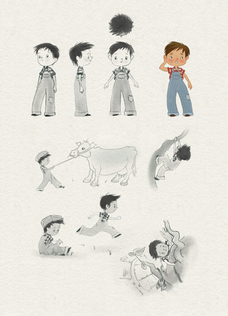 Jack and the beanstalk character design - Jack