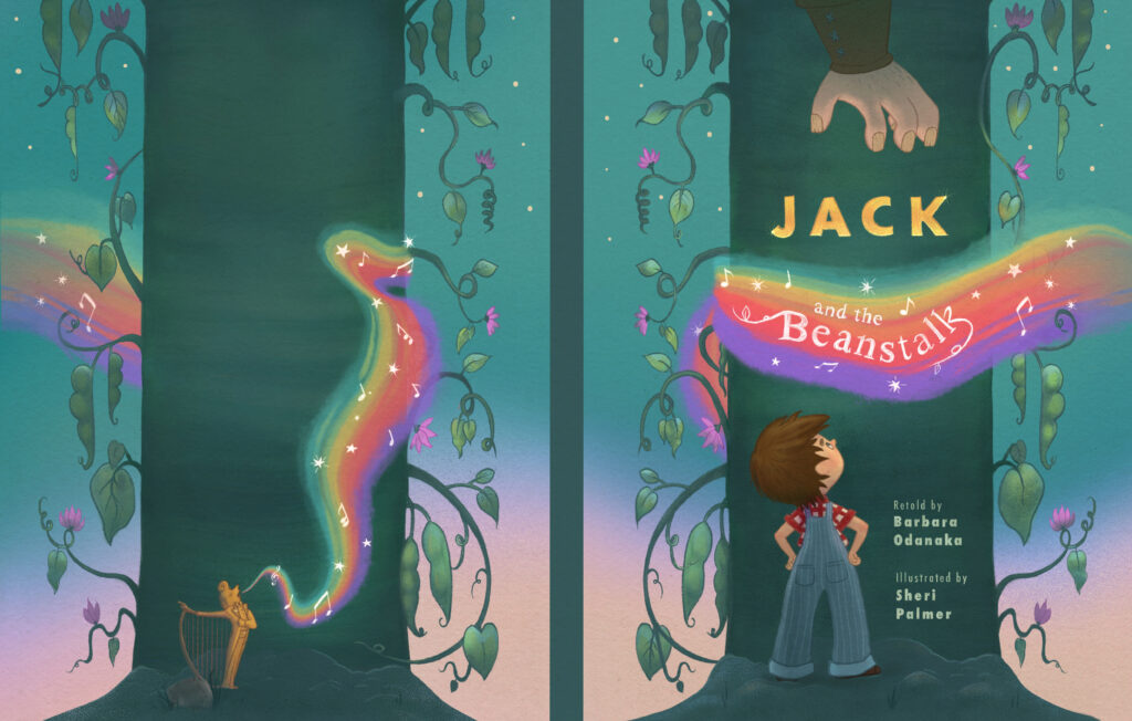 Jack and the bean stalk - Book Cover design