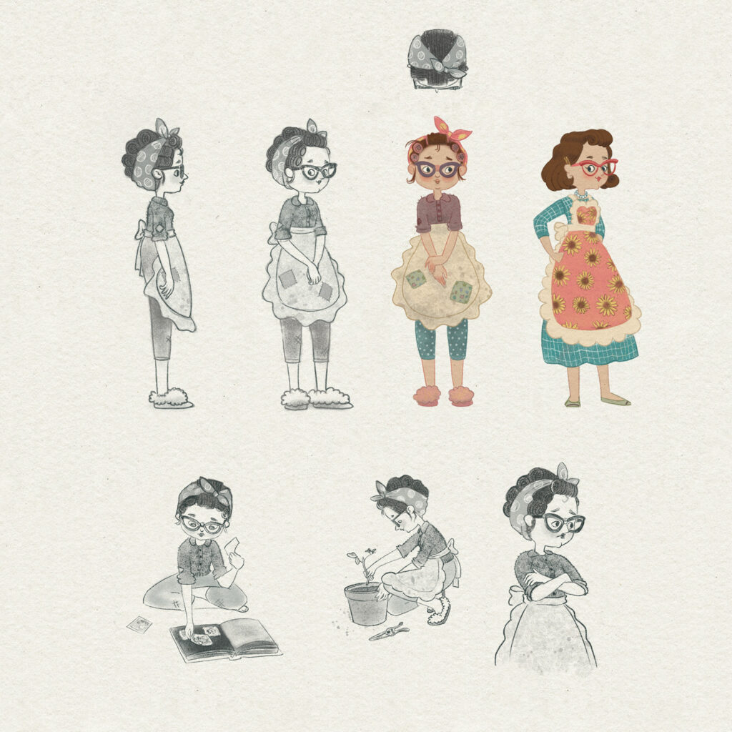 Jack and the beanstalk character design - mother
